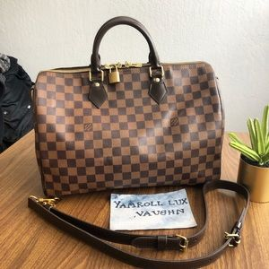 Authentic Louis Vuitton Speedy bandouliere 35